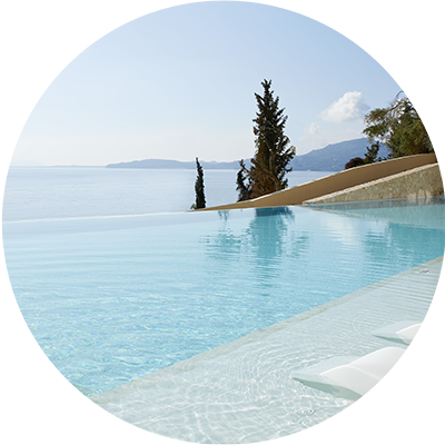 Infinity Pool at Marbella Nido Hotel in Corfu, Greece