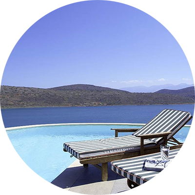 Private Infinity Pool at Domes of Elounda, Crete