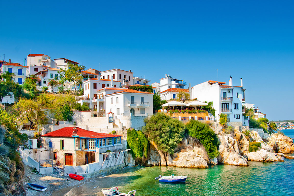 Skiathos Coastal Village